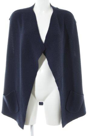 Allude Dzianinowa kurtka z krótkim rękawem ciemnoniebieski W stylu casual