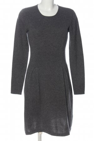 Allude Longsleeve Dress light grey flecked casual look