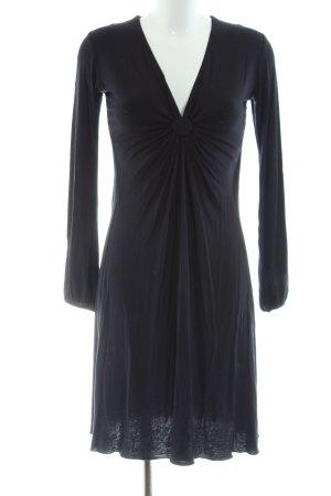 Allude Langarmkleid schwarz Elegant