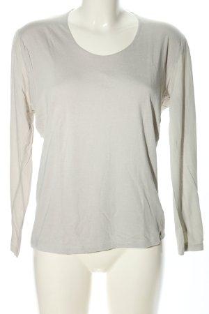 Allude Koszulka z długim rękawem jasnoszary W stylu casual
