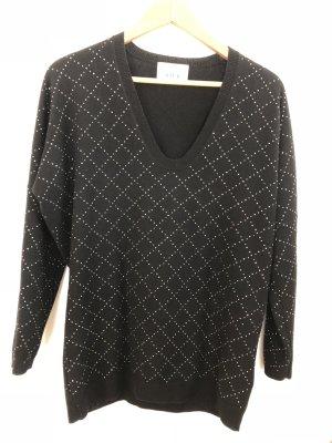 Allude Cashmere Jumper black-silver-colored cashmere