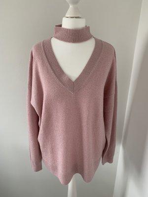 Allude V-Neck Sweater rose-gold-coloured cashmere