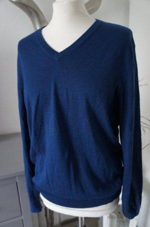 ALLUDE Pullover Größe M mit Seidenanteil blau