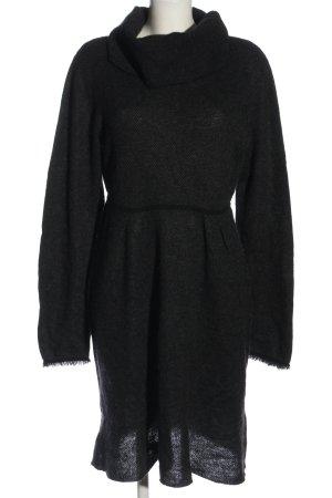 Allude Pulloverkleid schwarz meliert Casual-Look