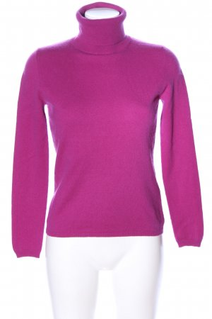 Allude Pull-over à col roulé rose style décontracté