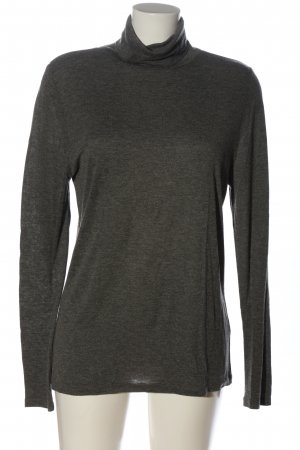 Allude Turtleneck Shirt light grey flecked casual look