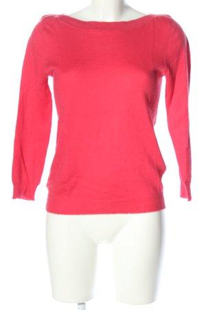 Allude Jersey de cuello redondo rosa look casual