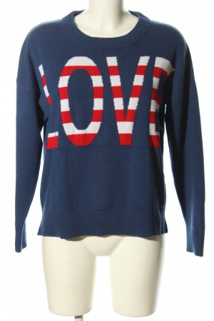 Allude Crewneck Sweater printed lettering casual look