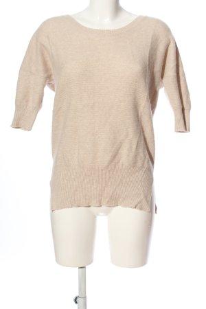 Allude Sweter z okrągłym dekoltem w kolorze białej wełny Melanżowy