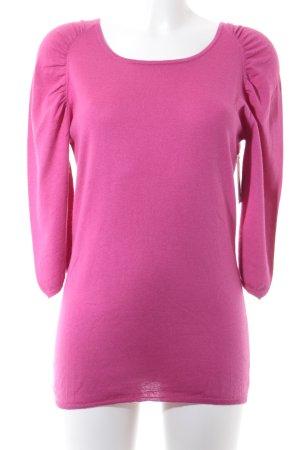 Allude Sweter z okrągłym dekoltem fioletowy W stylu casual
