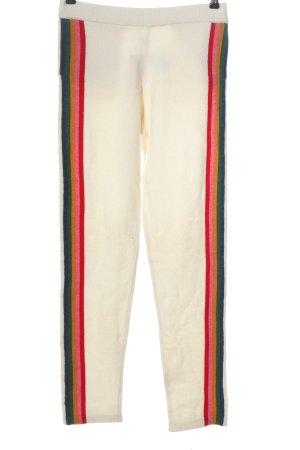 Allude Pantalone jersey bianco stile casual