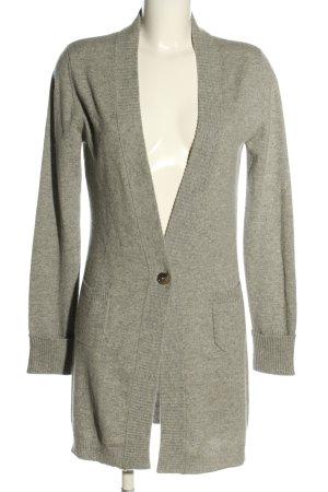 Allude Cardigan in maglia grigio chiaro puntinato stile casual