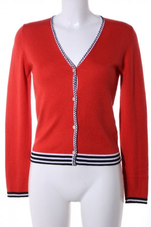 Allude Strick Cardigan rot Business-Look