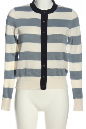 Allude Knitted Cardigan white-blue striped pattern casual look