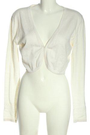 Allude Knitted Bolero white casual look