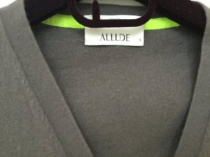 Allude Knitted Cardigan grey-meadow green