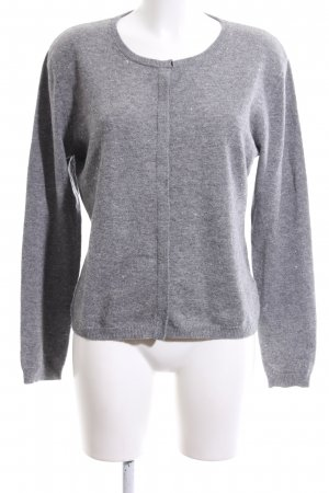 Allude Cardigan light grey flecked business style