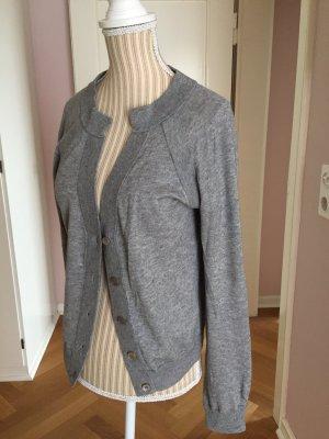 Allude Cardigan silver-colored cashmere