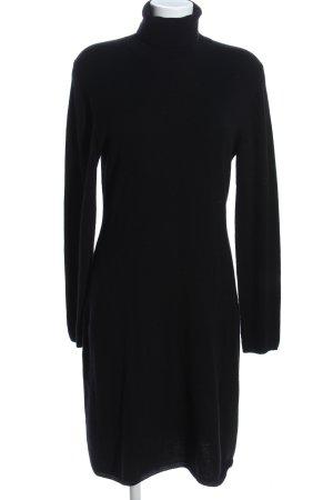 Allude Gebreide jurk zwart casual uitstraling