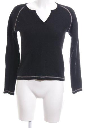Allude Strickpullover schwarz-weiß Casual-Look