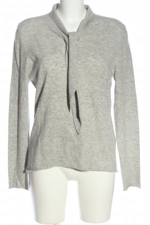 Allude Knitted Sweater light grey flecked casual look