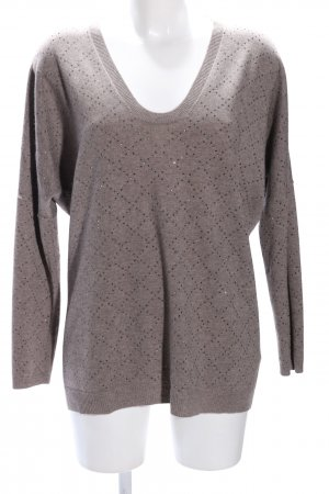 Allude Knitted Sweater brown casual look