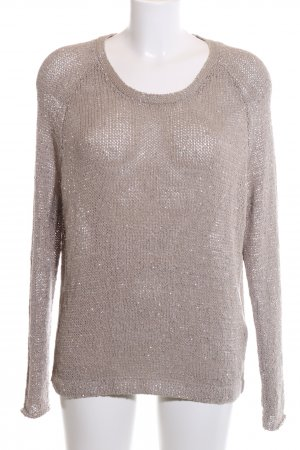 Allude Knitted Sweater cream casual look