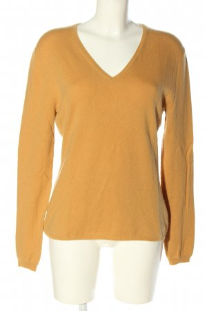 Allude Knitted Sweater light orange casual look