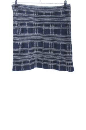 Allude Knitted Skirt blue-white check pattern casual look