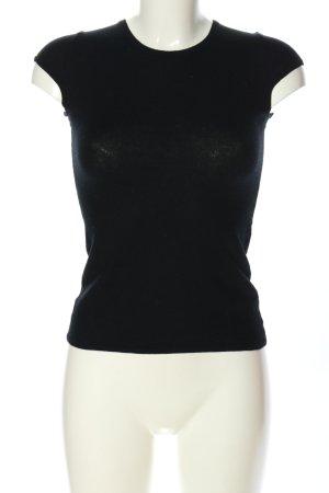 Allude Strickshirt schwarz Casual-Look