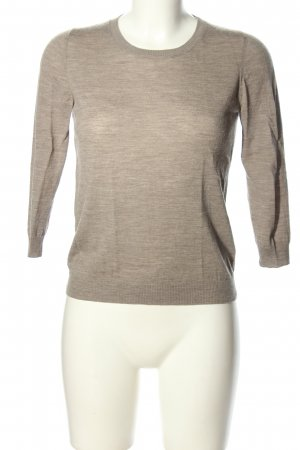 Allude Knitted Jumper brown flecked casual look
