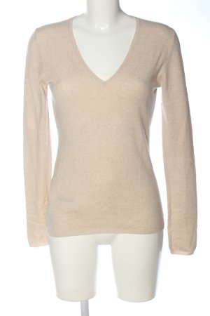 Allude Knitted Jumper cream casual look