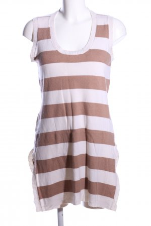 Allude Knitted Top brown-white striped pattern casual look