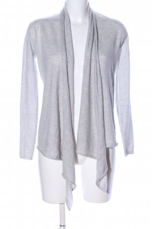 Allude Knitted Wrap Cardigan light grey flecked casual look