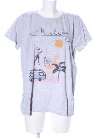 Allude T-Shirt light grey flecked casual look