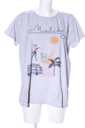 Allude T-Shirt hellgrau meliert Casual-Look