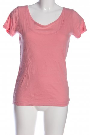 Allude T-shirt roze casual uitstraling