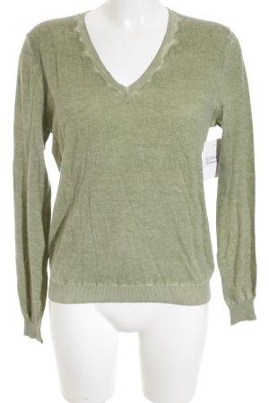 Allude V-Neck Sweater grass green