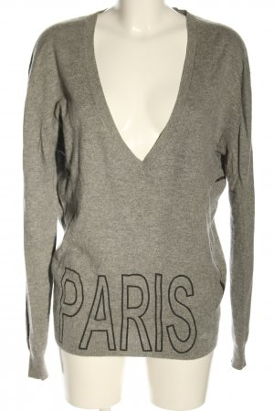 Allude V-Neck Sweater light grey flecked casual look