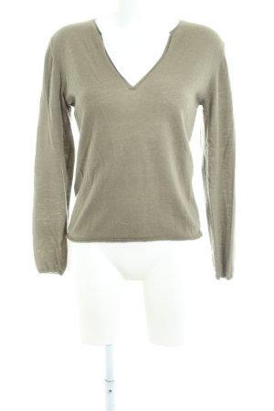 Allude V-Ausschnitt-Pullover khaki Casual-Look