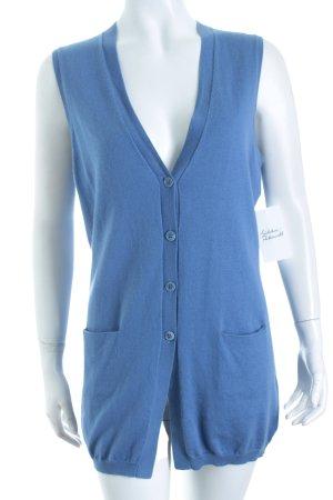 Allude Vest blauw straat-mode uitstraling
