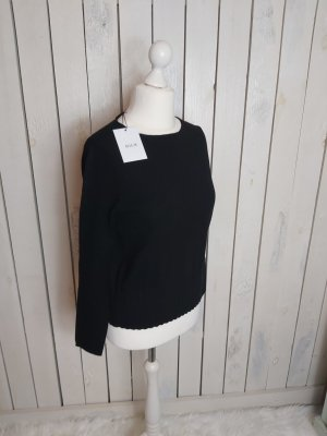 Allude Crewneck Sweater black wool