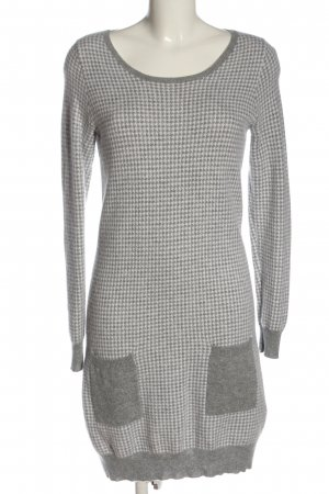 Allude Woolen Dress light grey-white allover print casual look
