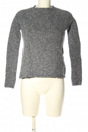 Allude Wool Sweater light grey flecked casual look