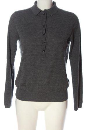 Allude Maglione di lana grigio chiaro puntinato stile casual