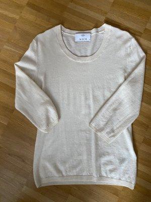 Allude Kaszmirowy sweter w kolorze białej wełny