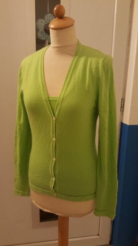 Allude Sweater Twin Set lime-green