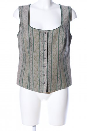 Allwerk Traditional Vest light grey-green graphic pattern classic style
