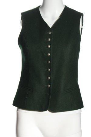 Allwerk Folkloristische vest groen klassieke stijl