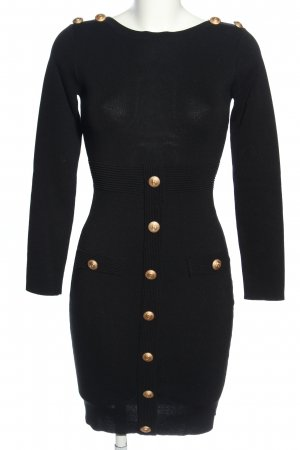 Allyson Collection Knitted Dress black-gold-colored casual look